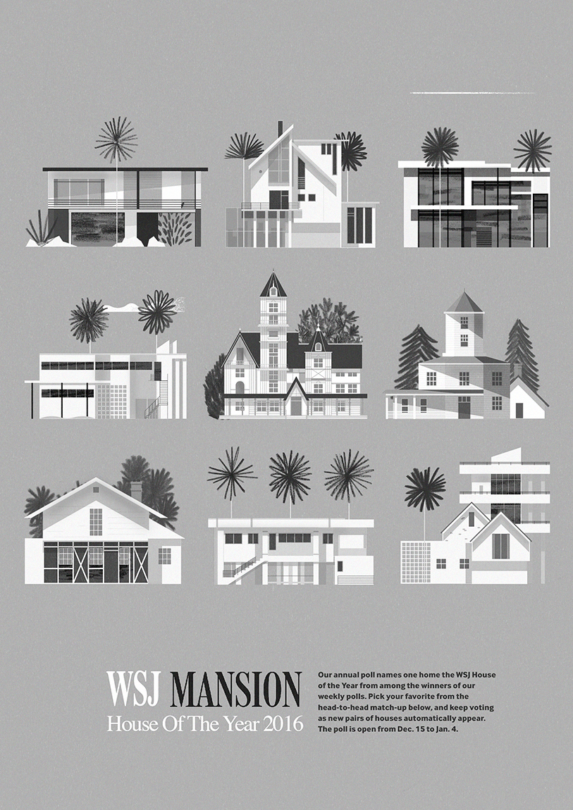 The visual work of mike lemanski for Wall street journal mansion