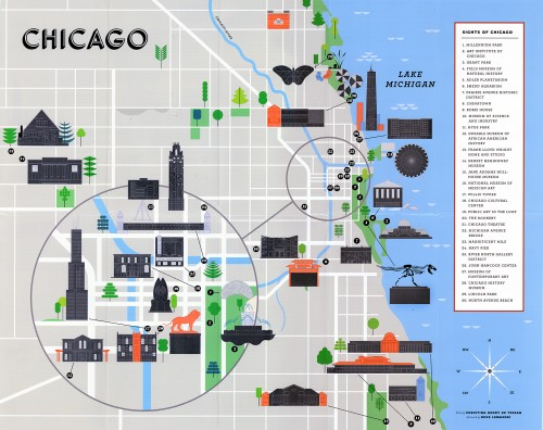 Chronicle Books Chicago Scratch-off Map